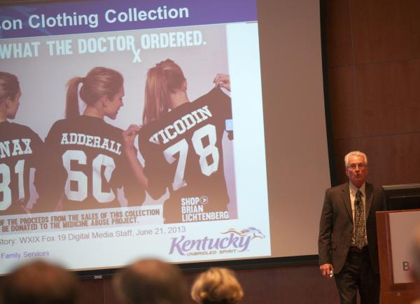 David Hopkins, Manager for the Kentucky All Schedule Prescription Electronic Reporting program at the Baptist Health Symposium on Saturday.