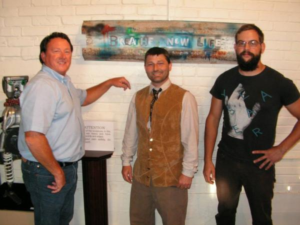 Terry Goatley, Ronn Moyers, Sean Brown at Mayfield's Ice House Gallery