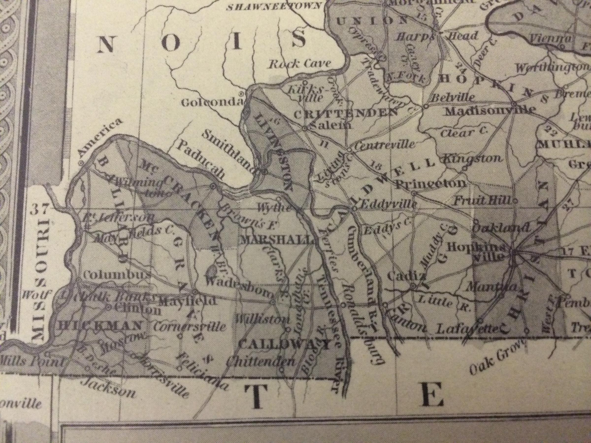 A New Map of Kentucky with its