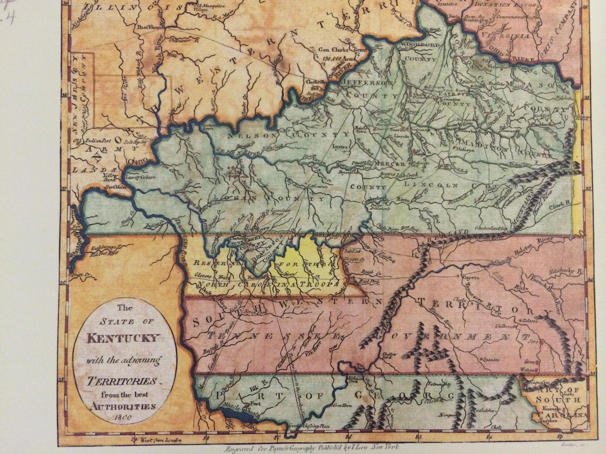 Kentucky Map Counties And Cities%0A Slideshow   Historic Maps of the Four Rivers Region WKMS