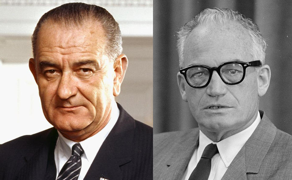 a comparison between lyndon johnson and barry goldwater There's barely a comparison anywhere in american history to the magnitude of the defeat of one barry morris goldwater though it wasn't really that lyndon b johnson, the sitting president and democratic nominee, was so popular in 1964 he was, but that's only part of the story in looking at the whole.