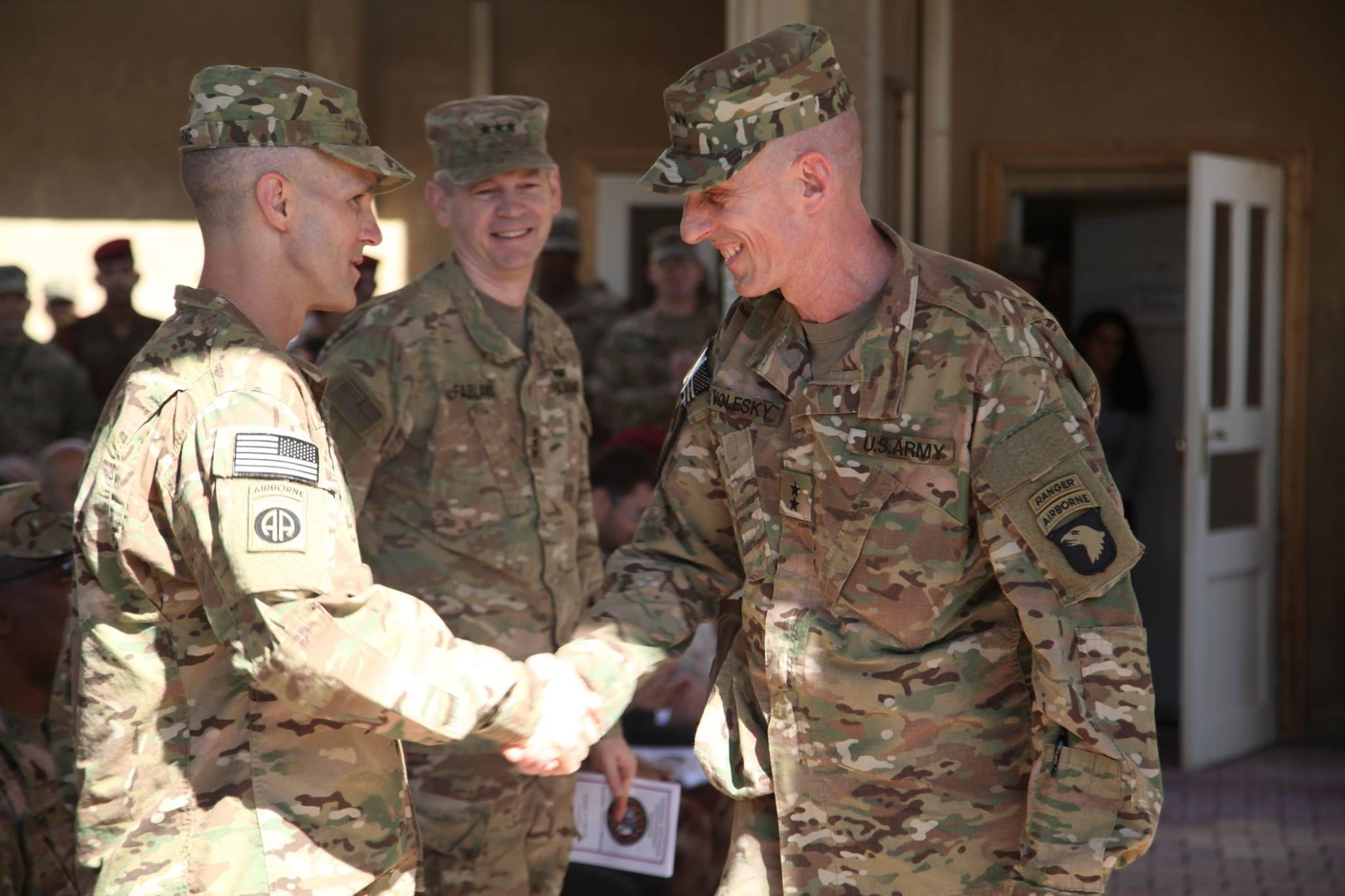fort campbell s 101st replaces 82nd airborne in iraq today wkms