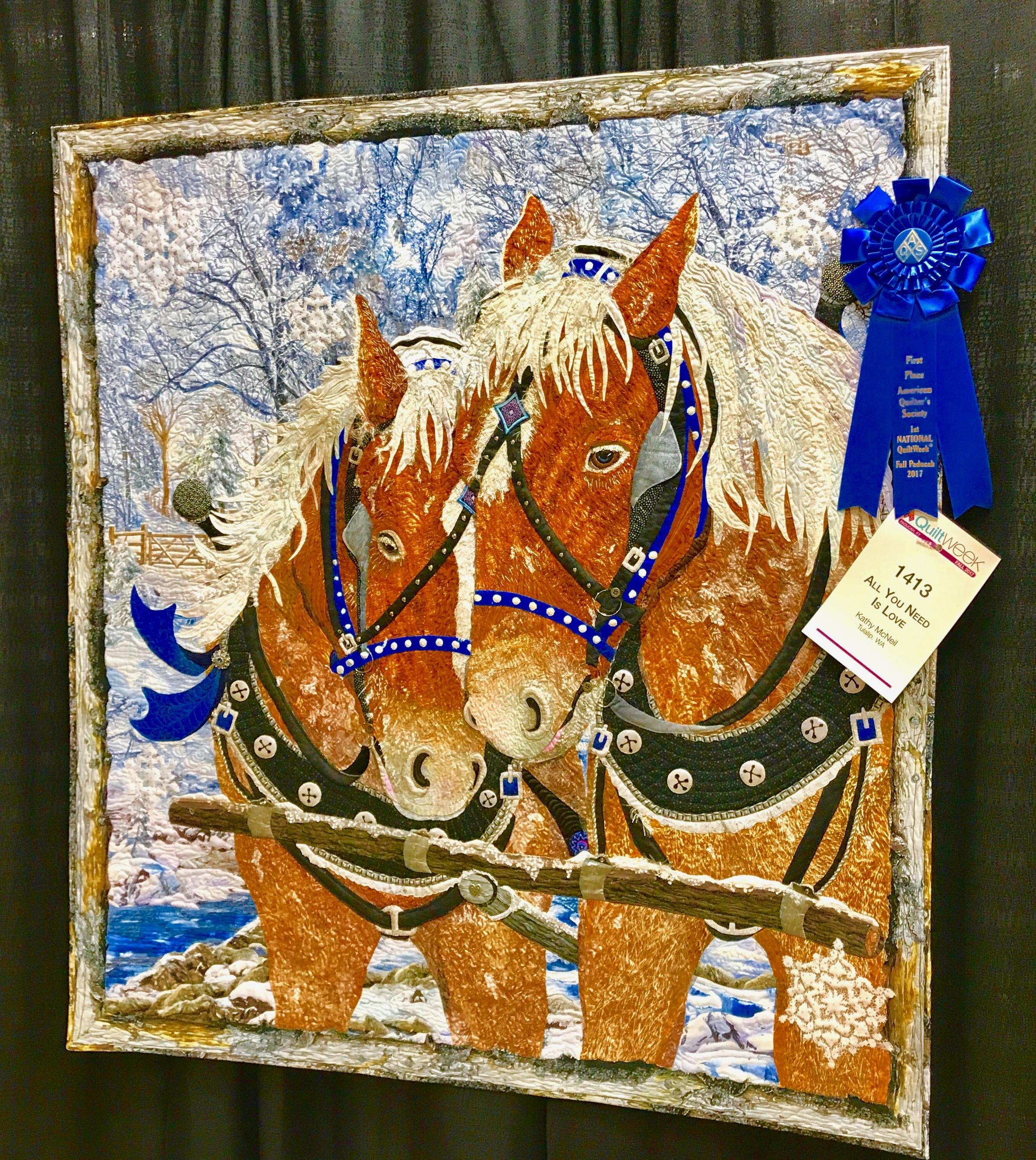 "All You Need Is Love"" Wins Fall AQS Paducah Viewers' Choice 'Best ... : aqs quilt show paducah - Adamdwight.com"