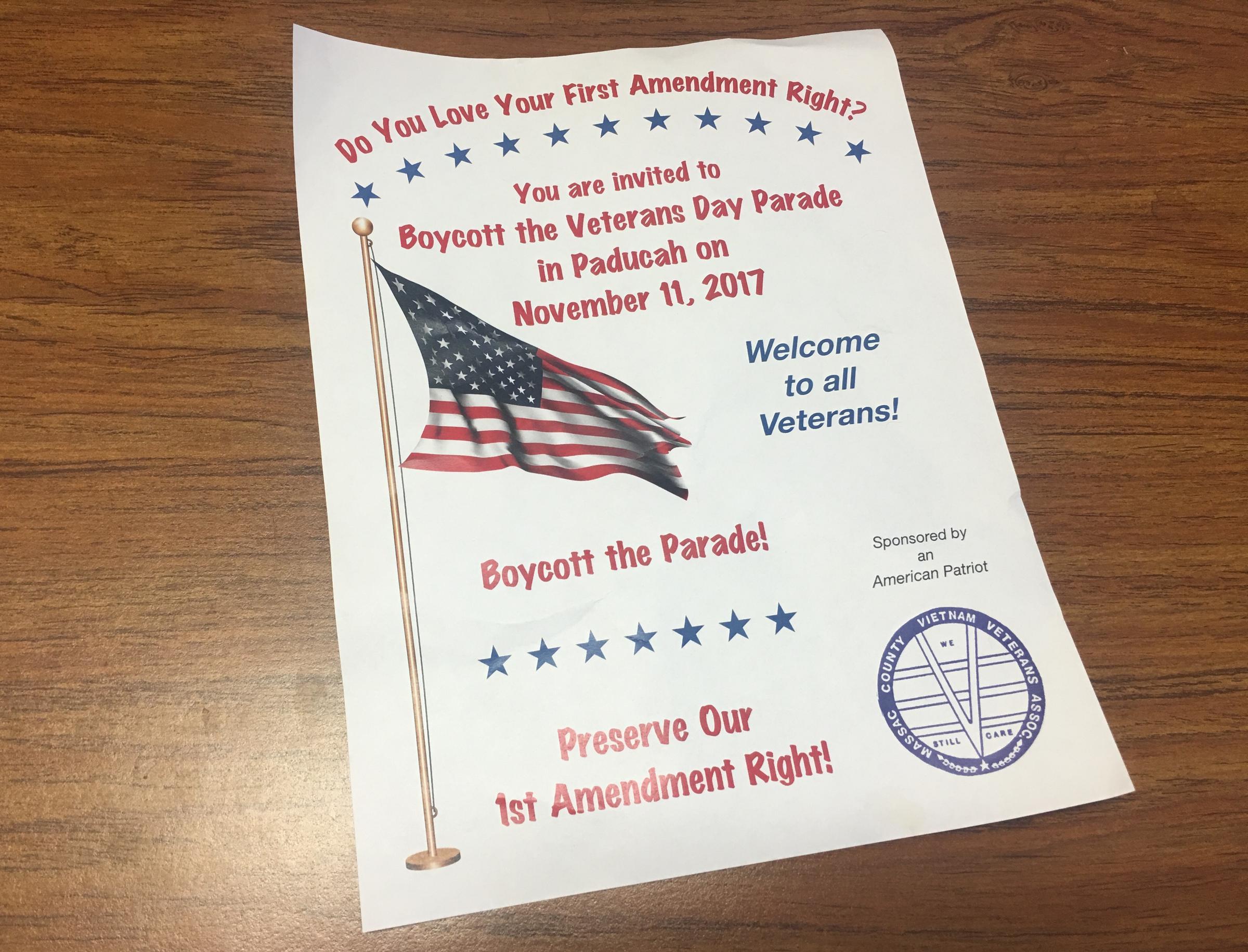 Veterans In Paducah Protest Citys Confederate Flag Parade Ban Call