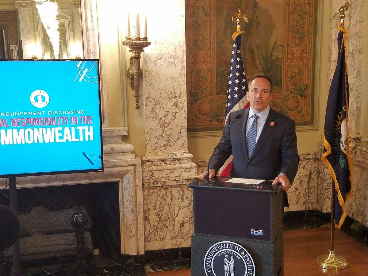 Bevin signs pension reform bill into law; Beshear, Dems respond