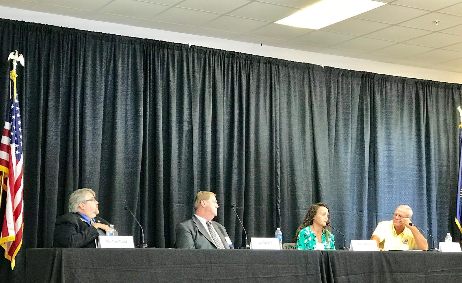 Obion County Joint Economic Development Council Ceo Lindsay Frilling Speaks During A Wave Panel With Left To Right Tim Todd Bill Miller And Larry Klien