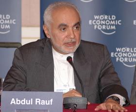 Imam Feisal Abdul Rauf at the Arab Business Council Annual Meeting 2005 in Manama, Bahrain, November 10, 2005.