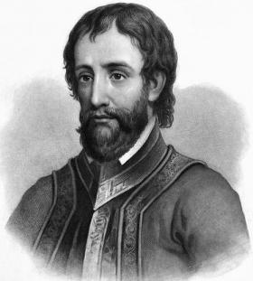 Engraving of Hernando De Soto