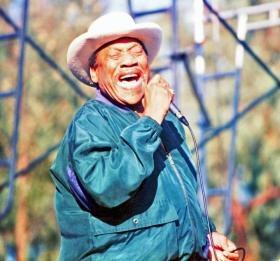 "Bobby ""Blue"" Bland at the Long Beach Blues Festival in 1996."
