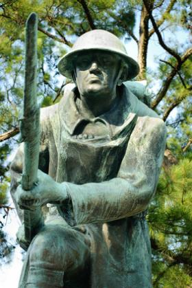 World War I Monument at Veteran's Plaza in Overton Park