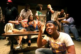 "Produced by Hattiloo Theatre, Katori Hall's play ""Hurt Village"" earned several Ostrander nominations and won the award for best large ensemble."