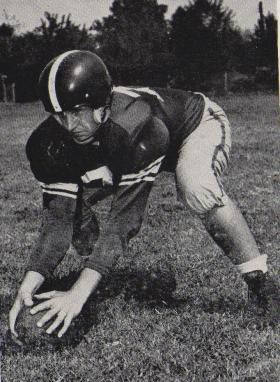 Fred Medling's 1949 football photo during his return to Memphis State after World War II.