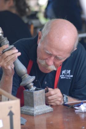 Metalsmiths working at Repair Days