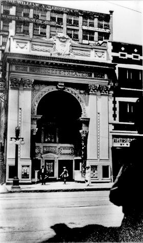 Built in 1911, the Princess Theater was an ornate early movie palace on Main Street that seated more than 600 people and had a lighted facade.