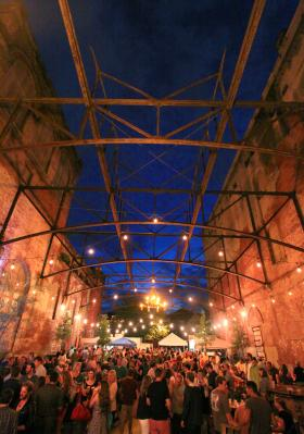 Hundreds of people hung out in the courtyard of the Tennessee Brewery on May 30, 2014 as part of Tennessee Brewery Untapped. Organizers estimates that more than 20,000 people visited the structure throughout the month, which had been turned into a temporary beer garden.