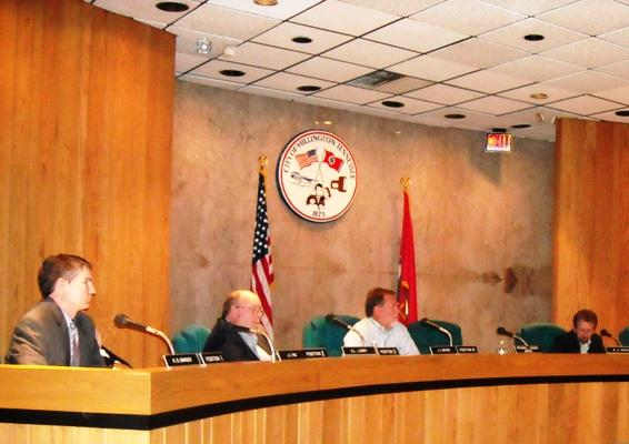 Millington Mayor Richard Hodges left his center seat at the board of aldermen meeting early the night he announced his retirement.