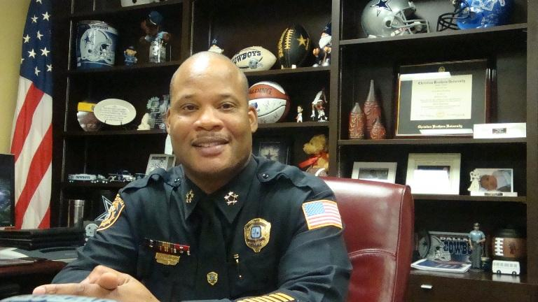 Toney Armstrong, Director of Memphis Police Department in his 12th floor office at 201 Poplar.