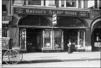 An early S.S. Kresge Five and Dime Store