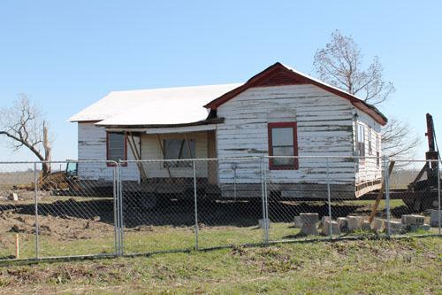 The boyhood home of Johnny Cash in Dyess, Arkansas.