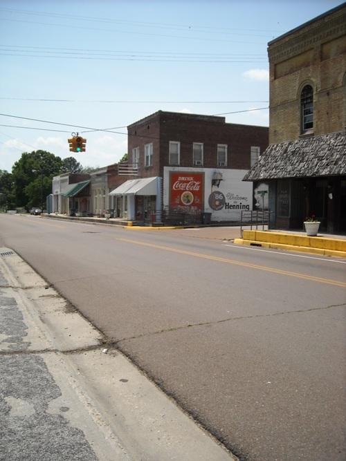 Main Street, Henning, TN.