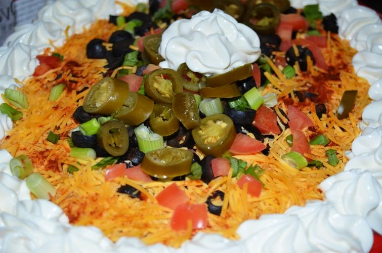 This meat-free seven layer dip served in suites above the Redbirds baseball field is one of the most popular appetizers on the menu, among vegetarians and meat eaters.