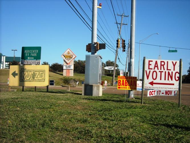 The Agricenter early voting location in Memphis.