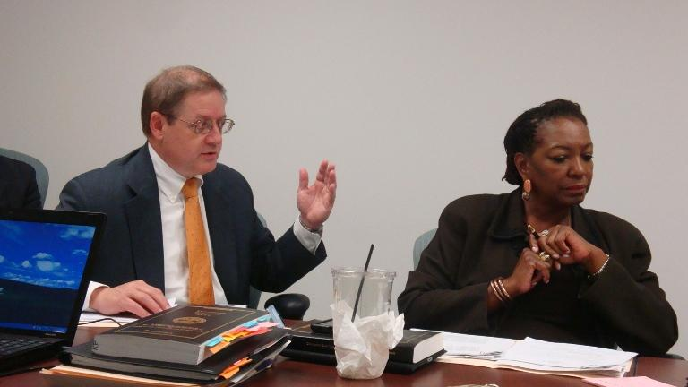 Election Commission attorneys John Ryder and Monice Hagler advise Election Commission.