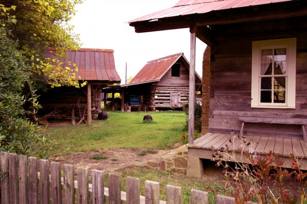 These rustic log cabins were once scattered across the West Tennessee landscape.
