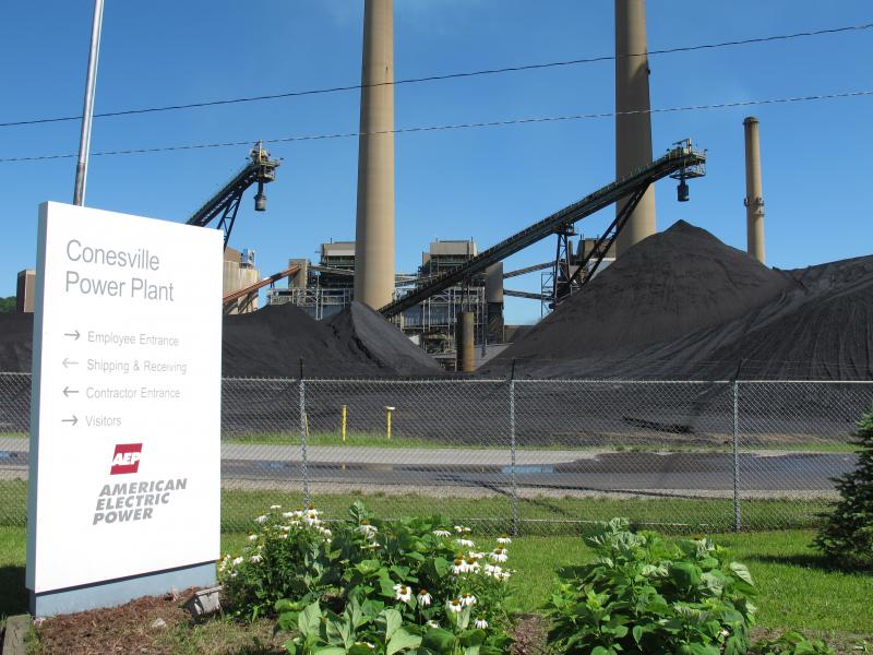 The Conesville Power Plant in Conesville, Ohio, is operated by American Electric Power and burns about 12,000 tons of coal a day. That's enough coal to fill 120 box cars.