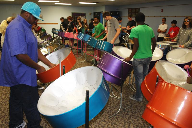 The Steel Academy in Akron is a 6-12 grade charter school that specializes in educating kids with ADHD and autism. Steel drum music is central to the school's curriculum.