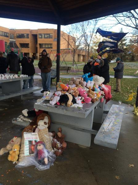 Photo of tribute to Tamir Rice