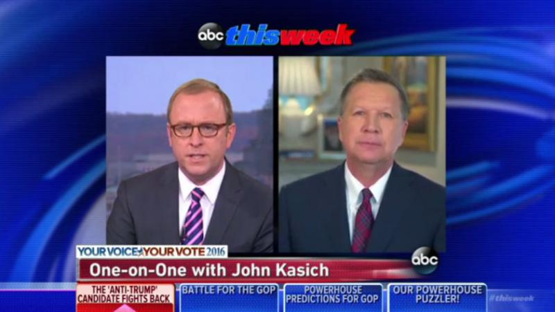 """Photo of Kasich on ABC's """"This Week"""""""