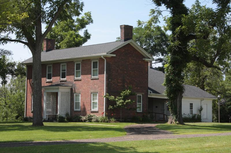 The Burrell homestead was built in 1820 and was a major stop on the Underground Railroad.