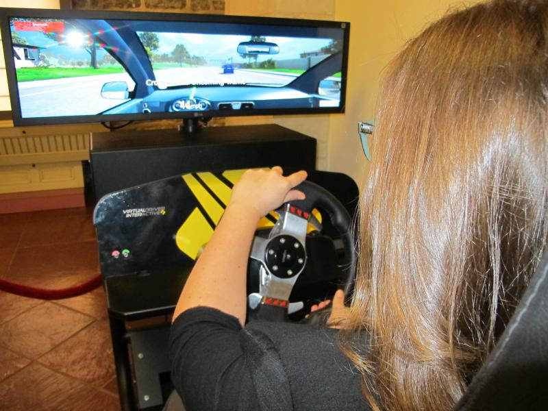 photo of driving simulator