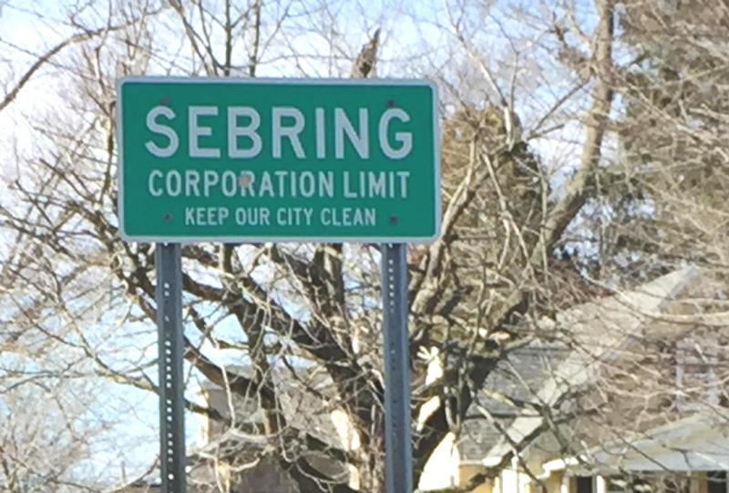 Sebring corporation limit sign