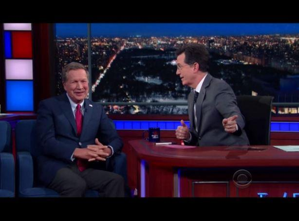 "Kasich on ""Late Night with Stephen Colbert"""
