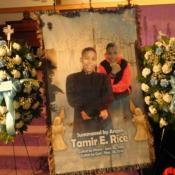 photo from Tamir Rice funeral