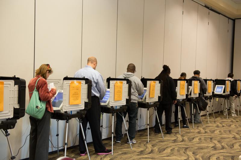 Generic photo of people voting