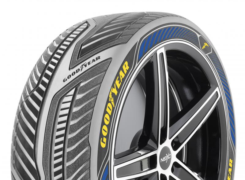 Photo of Goodyear's IntelliGrip concept tire
