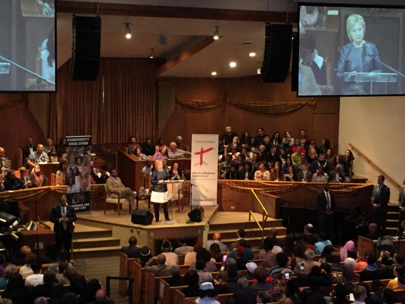 Hillary Clinton at Olivet Institutional Baptist Church