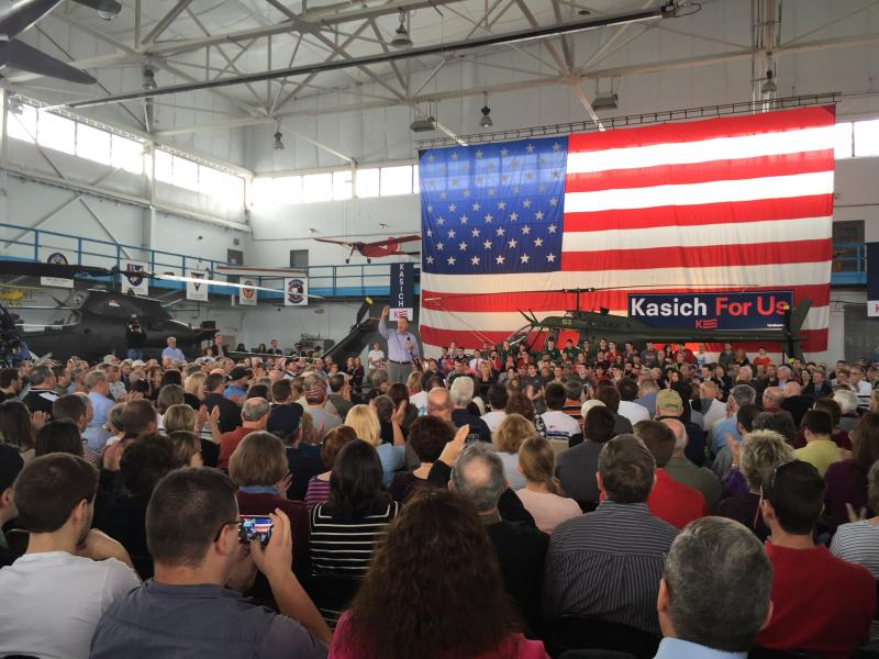 Kasich taking questions
