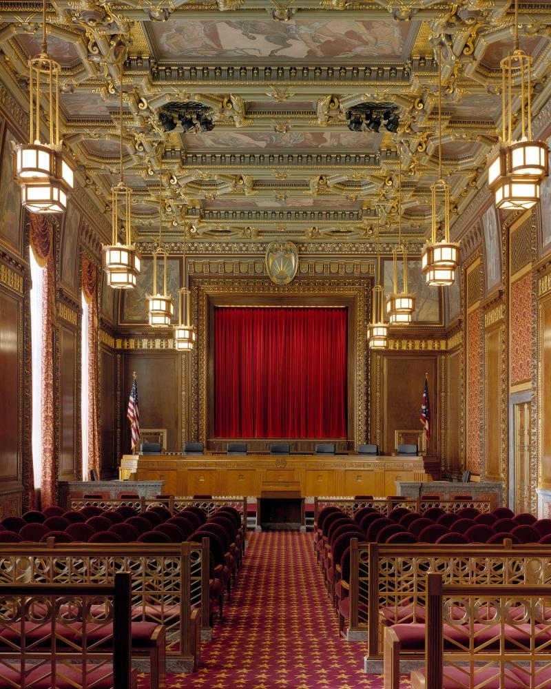 Photo of the Ohio Supreme Court's main courtroom