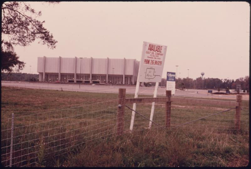 The Richfield Coliseum was razed in 1999 and now belongs to Cuyahoga Valley National Park