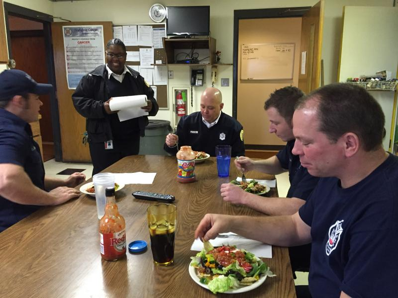firefighters lunch