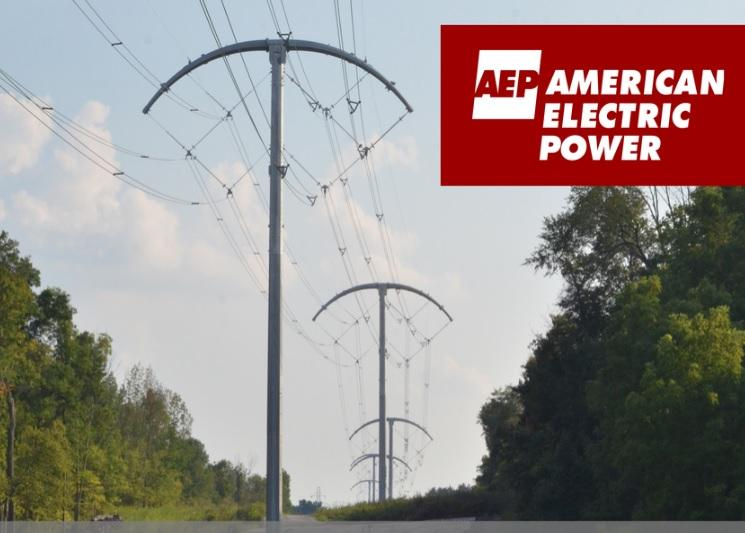 AEP photo of transmission lines