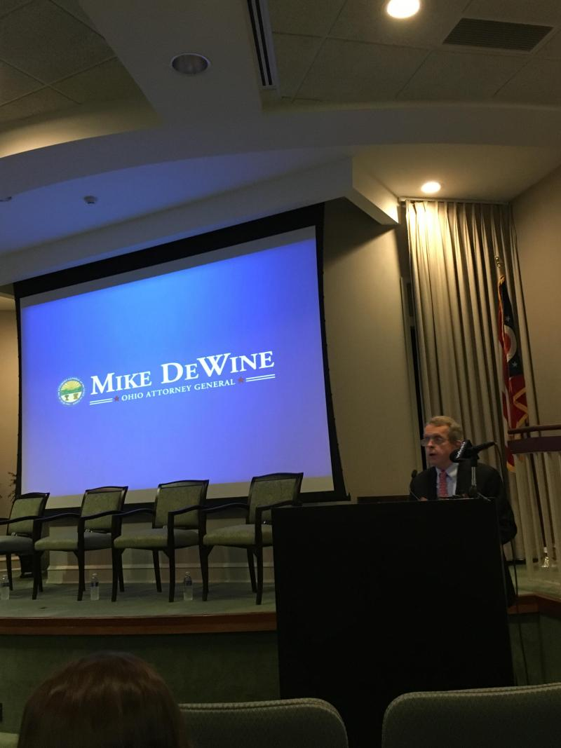 Picture of Ohio Attorney General Mike DeWine at today heroin conference