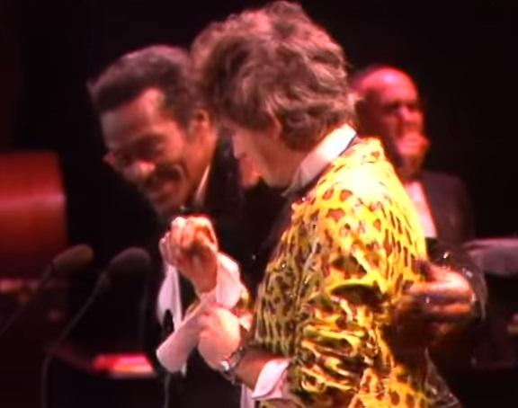 photo of Chuck Berry and Keith Richards