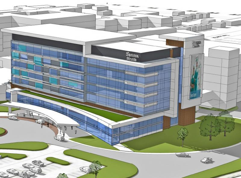 Artist rendering of upgrades at Akron City Hospital