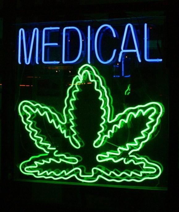 photo of medical marijuana sign