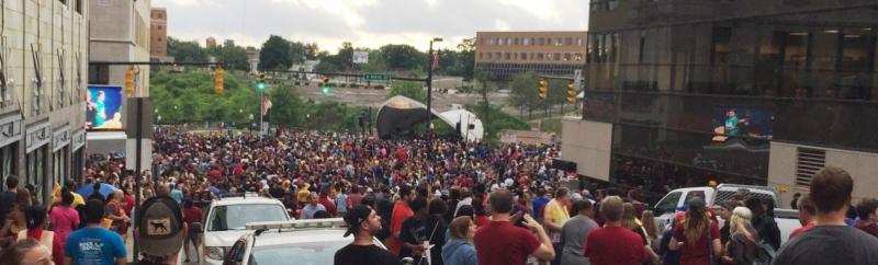 NBA Tital Celebration in Akron